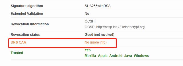 《关于DNS的CAA记录》